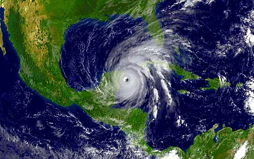 Hurricane Wilma October 21, 2005 - Photo courtesy of NOAA